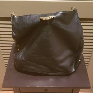 Black Purse with Gold Chain shoulder strap